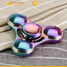 Dazzle Colour Fidget Hand Spinner Mental Rainbow Toy Spin