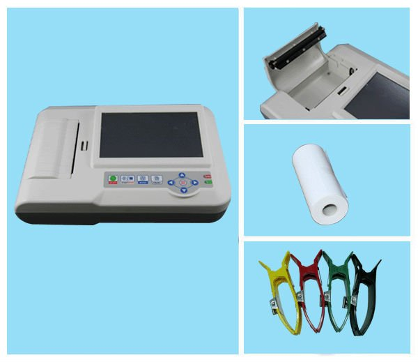 Manufacturer Contec ECG600G medical CE approved digital 3 / 6 Channel cheap ECG machine electrocardiograph