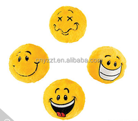 Plush Smile Face Bouncing Balls/custom stuffed emoji school birthday game balls