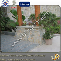Decorative natural slate garden stepping stone
