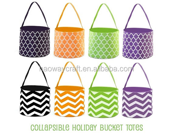 halloween treat or trick buckets collapsible holiday bag