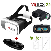 VR Box 2nd Generation Enhanced Version 3D Video Glasses Headset Compatible with 4.7-6 Inch Phone Android, Samsung Edge etc