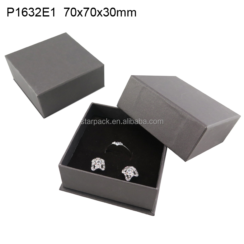 Wholesale Jewelry Box with Velvet Lining for Ring and Earring