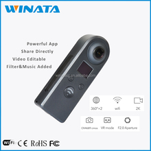 Wholesale Surround View Camera-Omniview Google Dual Lens Spherical Fisheye Wireless Panoramic View 360 Degree Vr 360 Camera