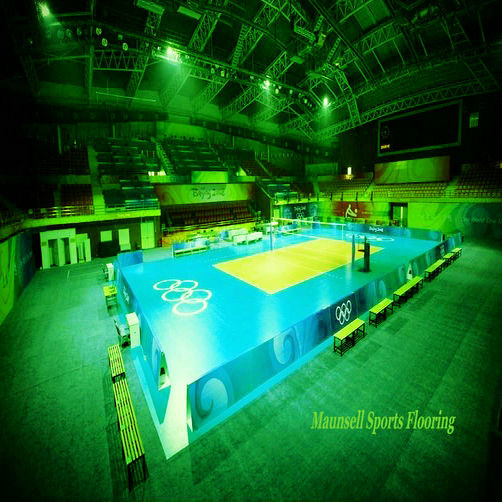 8mm volleyball/badminton court floor / pvc sports flooring