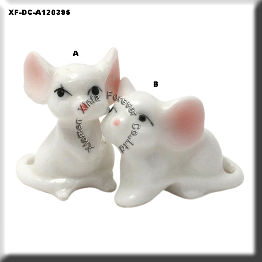 beautiful ceramic rat figurine