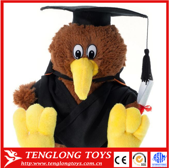 lovely tweety bird plush graduation kiwi bird soft toy