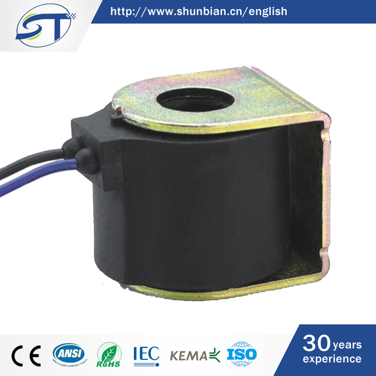 SHUNTE OEM China Whole Sale DC12V 16W Auto Solenoid Coil With Flying Leads