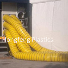 Polyester Vinyl Coated fabric flexible ventilation ducting , negative pressure pvc plastic ducting