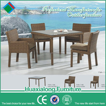 Hot sale outdoor garden rattan dinning table set chinese furniture import FWA-118