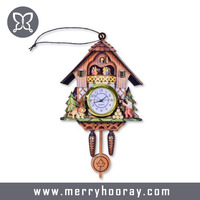 Wooden Hanging Modern Cuckoo Clock