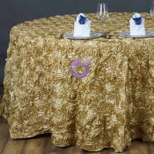 MX1805E wedding rosette hand embroidery table cloth