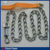 High quality dog chain with Nylon handle,dog collar chain,dog chain