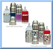 BPA FREE baby stainless steel milk bottle