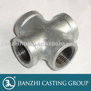 BS/DIN/ANSI malleable iron pipe fittings 180 crosses