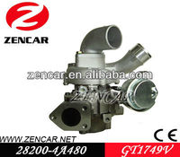 GT1749V Turbo For Hyundai Starex CRDI 28200-4A480 With D4CB Engine