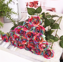 hotsale single latex artificial real touch rose flower for wedding