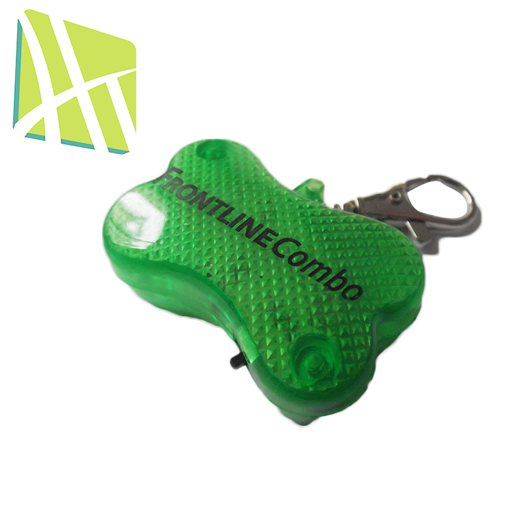 Wholesale HT4023 ABS Plastic Colorful LED Flashing Custom Pet Animal Tag Toy