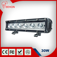 high quality 6x5W chip 30W magnetic aluminum housing LED Light Bar for Car oledone Offroad ce rohs led light bar