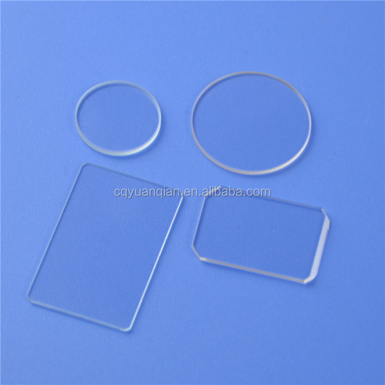 custom made optical wafer BK7, B270, Quartz, fused silica