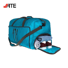 80L Blue Sky Travel Folding Luggage Bag with Shoe Compartment