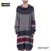 Fashion Ladies Intarsia Winter Knitted Long Sleeve Dress, Well-Deigned Women Stylish Maxi Dress