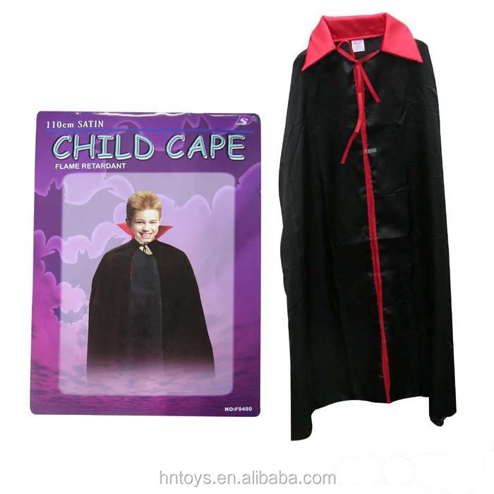 Child cape vampire costume for dress up party