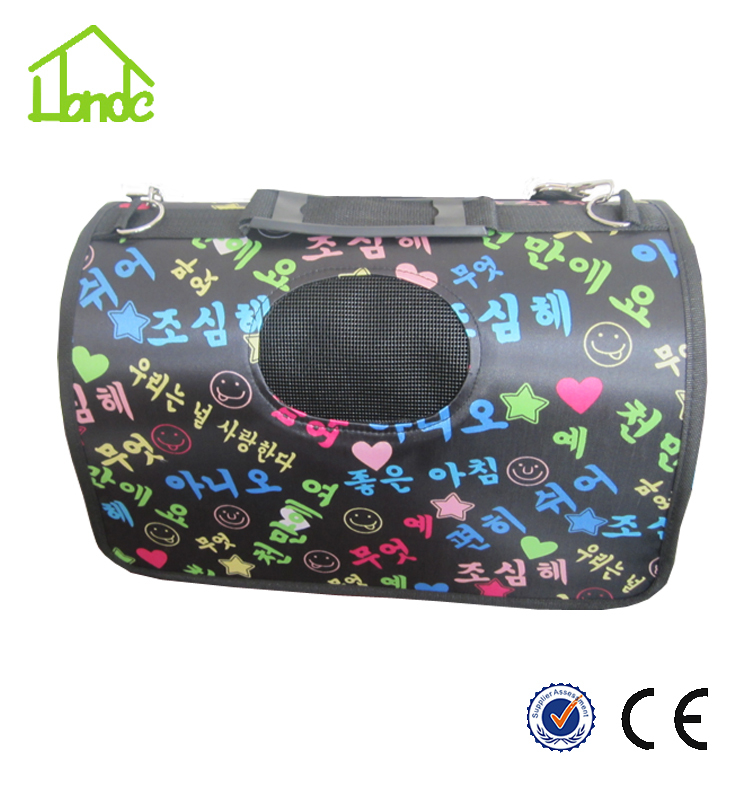 Wholesale portable fashion outdoor travel pet carrier bag