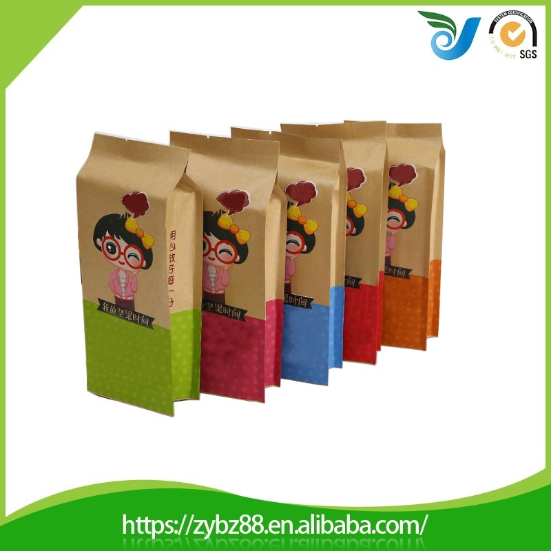 Wholesale Side gusset food kraft paper bag