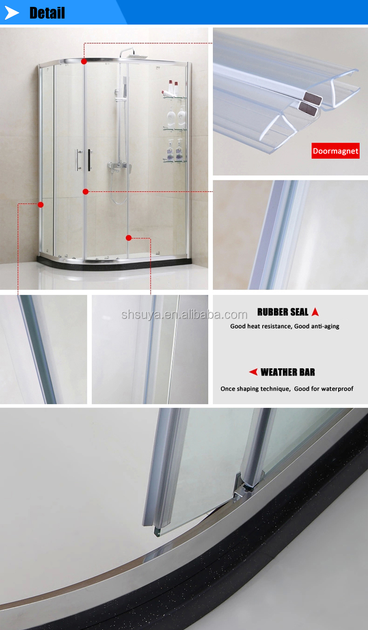 HOT Sell Combo Corner Bath Shower And Rubber Seal For Folding Screen Hinges