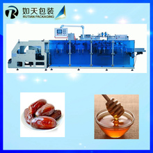 Piston pump date syrup glass bottle packing machine