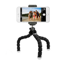 OEM Black Color Sponge Octopus Tripod With Clip For Mobile Phone