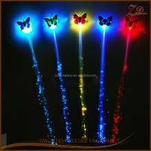 Hot sale LED colorful braids Luminous butterfly braids