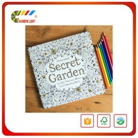 Professional hardcover cartoon picture white cardboard children story book printing