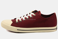 HC-LH8724 Design lace-up your own canvas wine red shoes/ beautiful vulcanized canvas shoes for ladies