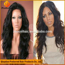 Wholesale black beauty supply 100% human hair lace front wig for black women with long hair