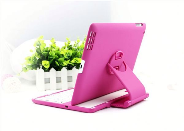 360 Degree Rotating Bluetooth Keyboard for iPad Mini 2, Bluetooth Keyboard Case for iPad Mini with Retina Display