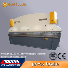WC67y-125/4000 Hydraulic making metal plate bender machine press brake tool