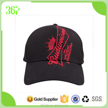Promotional Budweiser Logo Black Baseball Cap Kids Cap Wholesale