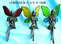Eco-friendly hand-paint custom pewter fairy miniature figures for model