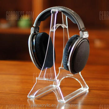 Clear Acrylic Headphone Display Stand For Video Games Headphone