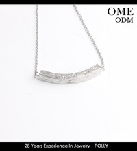 Stainless Steel Bar Necklace in All Capital Letters Personalize Necklace