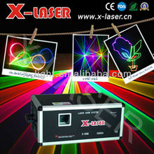 Automatic 5W RGB full color Animation analog modulation galaxy laser light/disco light box/dj light system