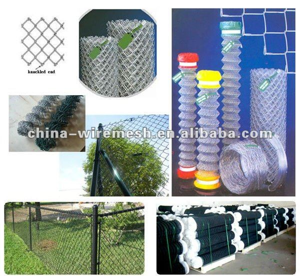 Hot Galvanized Chain Link Fence&Alibaba China Hot Dipped Galvanized Perimeter Security Used Chain Link Fence For Sale