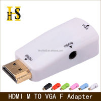hdmi to vga adapter with audio for hdtv project etc high quality hdmi male to vga female adaptor hdmi2vga adapter