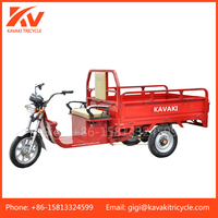 China Guangzhou tricycle factory supply cheap price 20Ah48V/60V new adult electric cargo tricycle