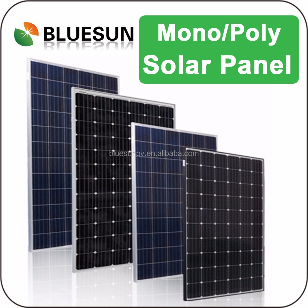 Bluesun mono 24v 280w 280watt solar panel for tile roof solar system