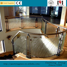 Prefabricated staircase glass stair handrail plastic cover