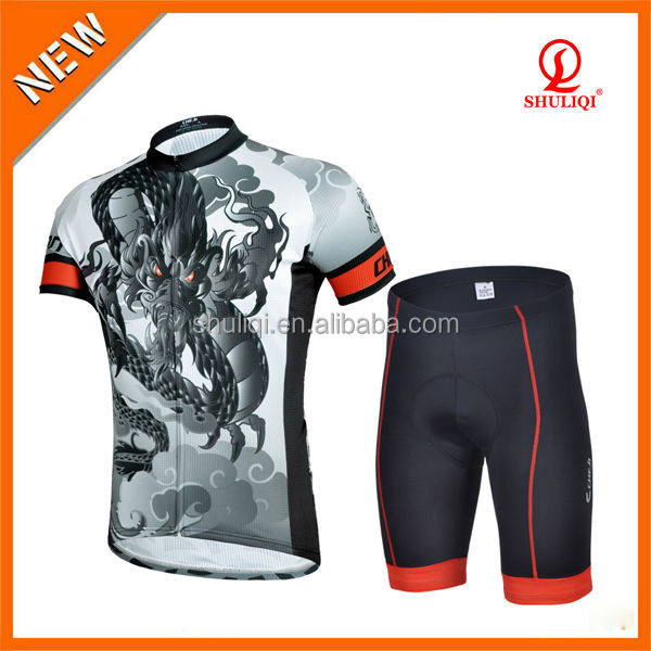 Fashion design your own cycling clothing, sublimation custom cycling jersey