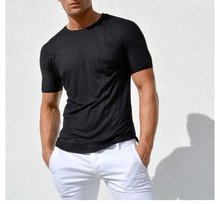 Tight breathable the trend active wear blank shortsleeve tshirt